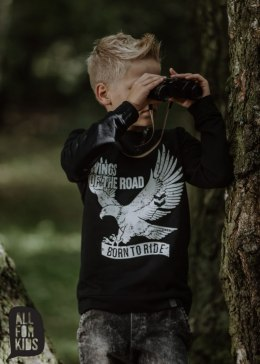 "All for Kids~ bluza czarna ""WINGS of the road"""